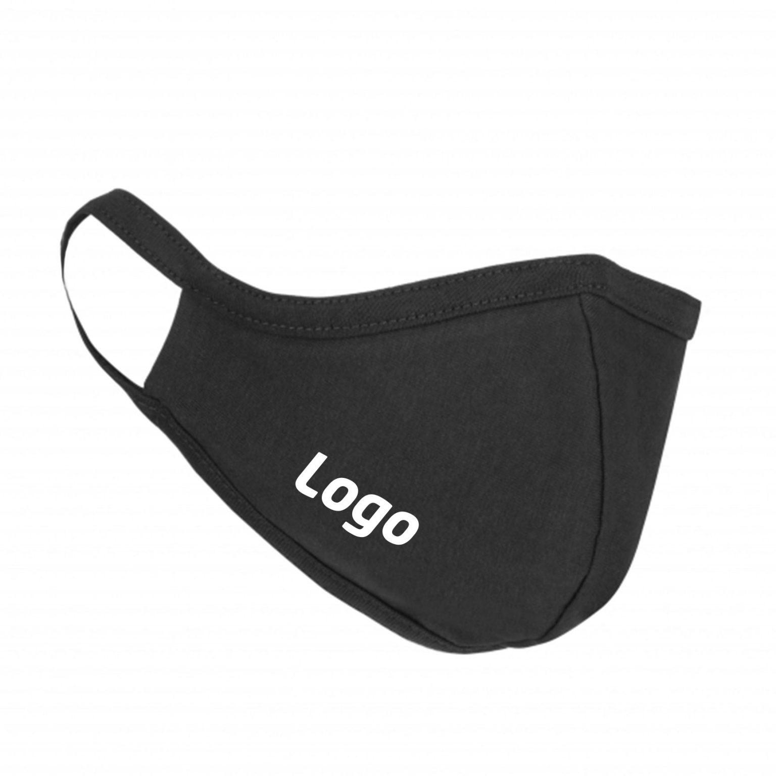 Mundschutz-Maske-Schwarz-aus-Stoff-mit-Logo
